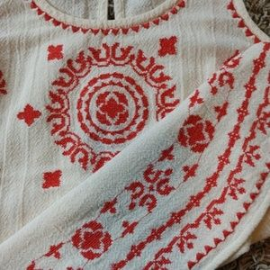 [Lucky] Embroidered Boho Tank